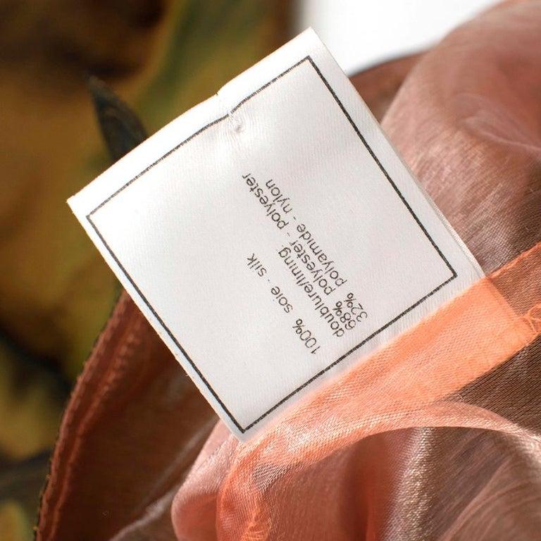 Chanel Identification Oversize Iridescent Silk Jacket - Size US 6 For Sale 2