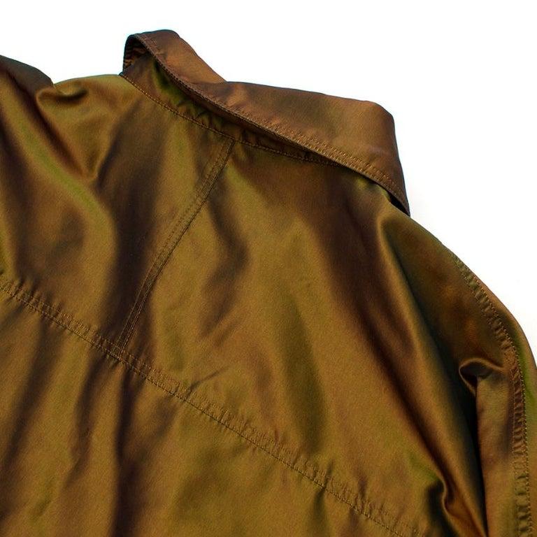 Chanel Identification Oversize Iridescent Silk Jacket - Size US 6 For Sale 3