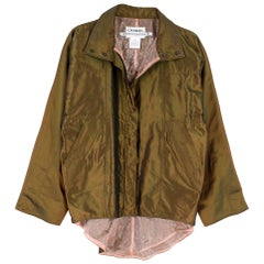 Chanel Identification Oversize Iridescent Silk Jacket - Size US 6