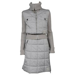 Chanel Identification Runway Quilted Puffer Skirt Suit, Fall-Winter 2000