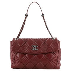 Chanel  In and Out Flap Bag Quilted Lambskin Maxi