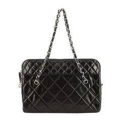 Chanel In The Business Camera Bag Quilted Patent Vinyl Large