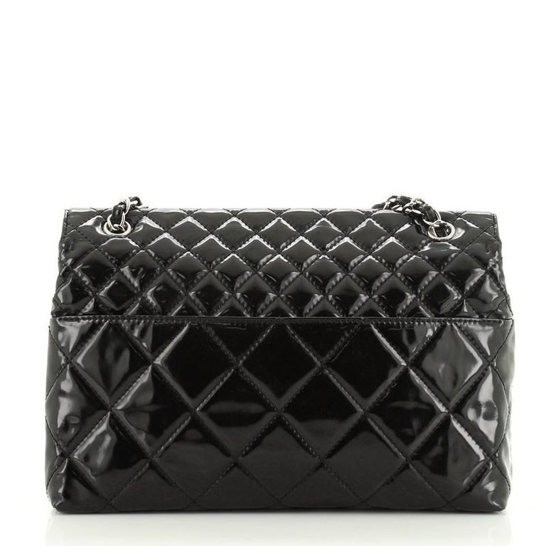 Women's or Men's Chanel In The Business Flap Bag Quilted Patent Vinyl Maxi