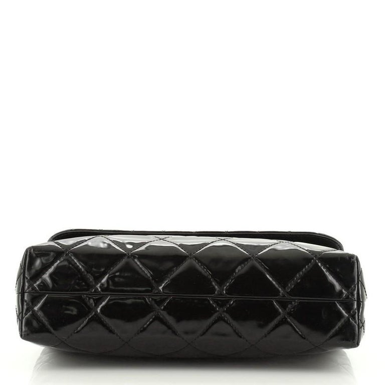 Chanel In The Business Flap Bag Quilted Patent Vinyl Maxi 1