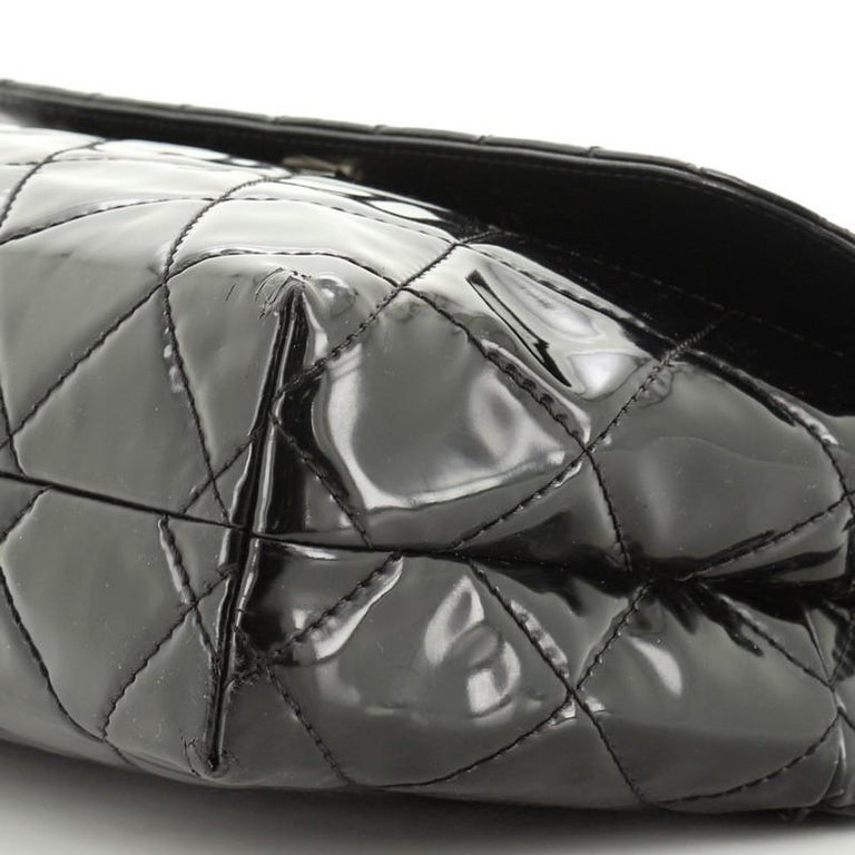 Chanel In The Business Flap Bag Quilted Patent Vinyl Maxi 3