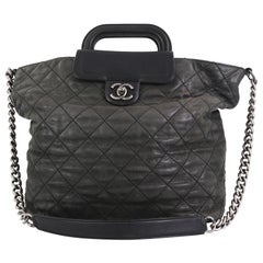 Chanel In The Mix Shopping Tote Quilted Iridescent Calfskin Large