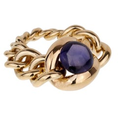 Chanel Iolite Chain Link Yellow Gold Ring