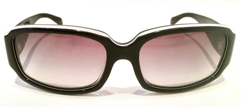 Brown Chanel Italy 20th Century Black and White