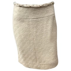 Chanel Ivory Wool Skirt-38