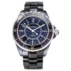 Chanel J-12 Automatic Wristwatch Black Ceramic Stainless Steel