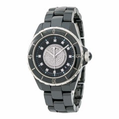 Chanel J 12 H2122 Women's Automatic Watch Ceramic Factory Diamond Box and Papers