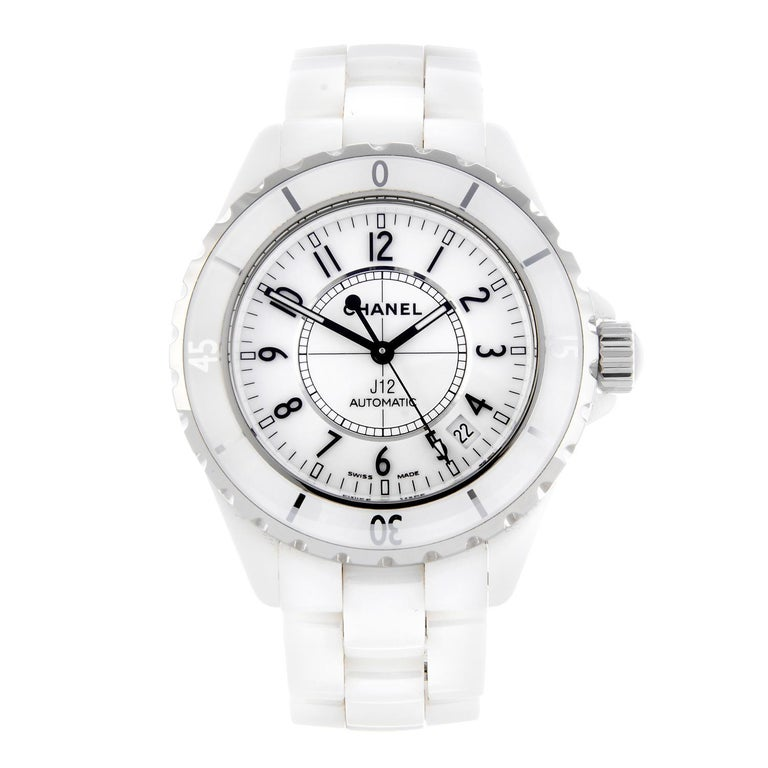 ed476a2427656 Chanel J12 a Fine White Ceramic Ladies Automatic Wristwatch For Sale ...