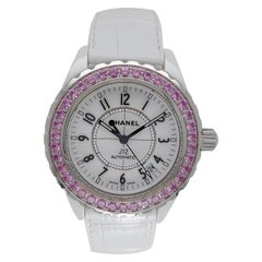 Chanel J12, Automatic, Ceramic Case, with Pink Sapphires