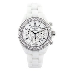Chanel J12 Automatic Chronograph Watch, White Ceramic