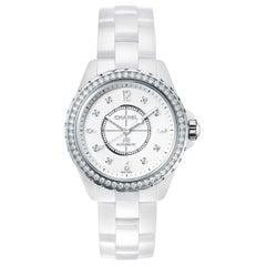 Chanel J12 Automatic Diamond White Ceramic Ladies Watch H3111