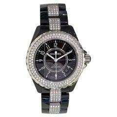 Chanel J12 Black Ceramic Automatic Full Factory Diamond Watch