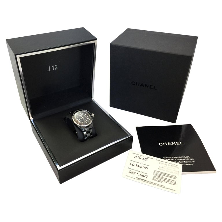 Chanel J12 Black Ceramic Automatic Watch H1626 For Sale