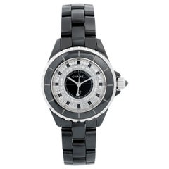 Chanel J12 Black Ceramic Diamond Watch