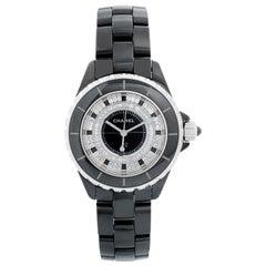 Chanel J12 Black Ceramic Diamond Watch