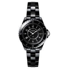 Chanel J12 Black Ceramic Quartz Movement Ladies Watch H5695
