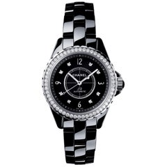 Chanel J12 Black Dial Black Ceramic Watch Item No. H3109
