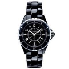 Chanel J12 Black Ladies Watch H0682