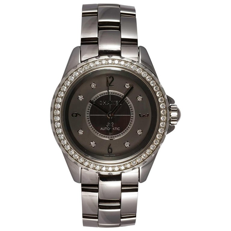 Chanel J12 Chromatic Ceramic Automatic Watch Factory Diamonds H2566 For Sale