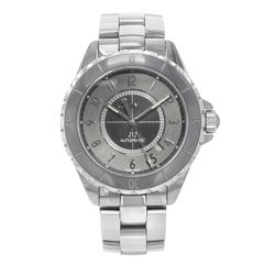 Chanel J12 Chromatic Gray Arabic Dial Ceramic Steel Automatic Unisex Watch H2934