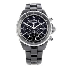 Chanel J12 Chronograph Chronometer Automatic Steel and Black Ceramic