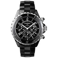 Chanel J12 Chronograph Chronometer Automatic Steel / Black Ceramic Face