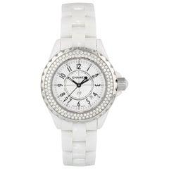 Chanel J12 Diamond Bezel H0969 Ceramic Ladies Watch