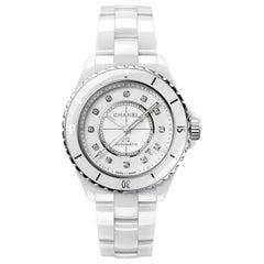 Chanel J12 Diamond White Dial Ladies Watch H5705