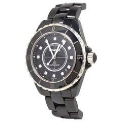 Chanel J12 Diamonds Black Ceramic