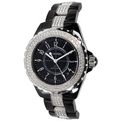 Chanel J12 H1339, Black Dial, Certified and Warranty