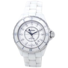 Chanel J12 H1629, White Dial, Certified and Warranty