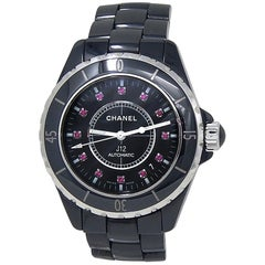Chanel J12 H1635, Black Dial, Certified and Warranty