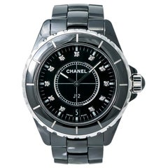 Chanel J12 H2124, Black Dial, Certified and Warranty