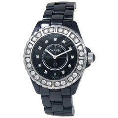 Chanel J12 H2428, Black Dial, Certified and Warranty
