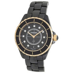 Chanel J12 H2544, Black Dial, Certified and Warranty