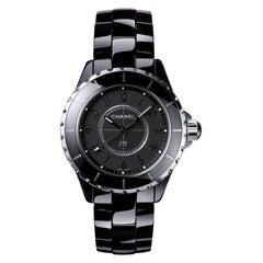 "Chanel J12 ""Intense Black"" Ceramic 'H3828'"