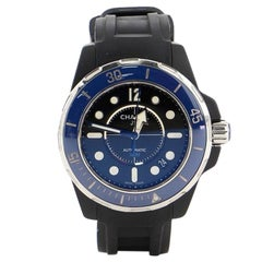 Chanel J12 Marine Automatic Watch Ceramic and Rubber 38