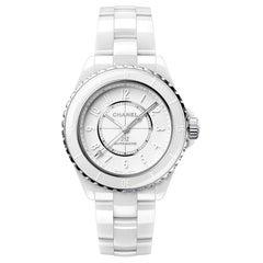 Chanel J12 Phantom White Automatic Ladies Watch H6186