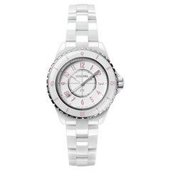 Chanel J12 Pink Blush Quartz Movement Ladies Watch H6755