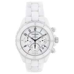 Chanel J12 White Ceramic Chronograph Watch H1007