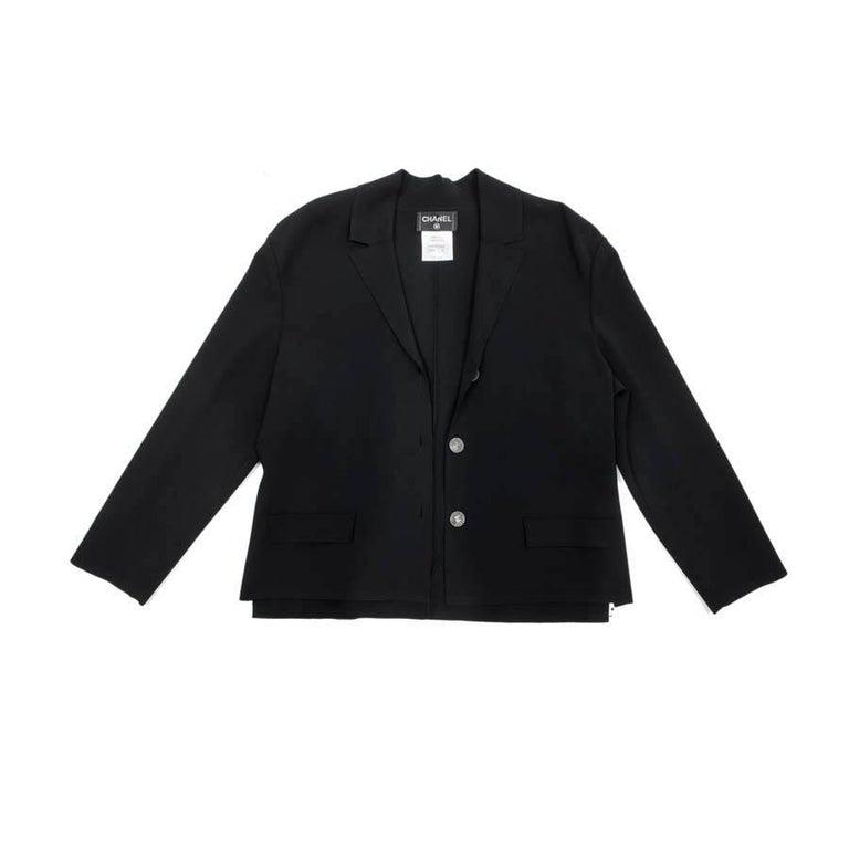 CHANEL Jacket in Black Stretch Size 42FR