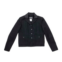 CHANEL Jacket in Black Wool Size 40FR