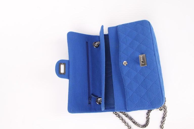 Women's Chanel Jersey Quilted Reissue Bag - blue For Sale