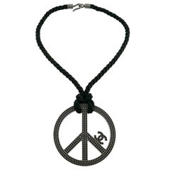 Chanel Jewelled Massive Peace Sign CC Necklace Spring Summer 2008