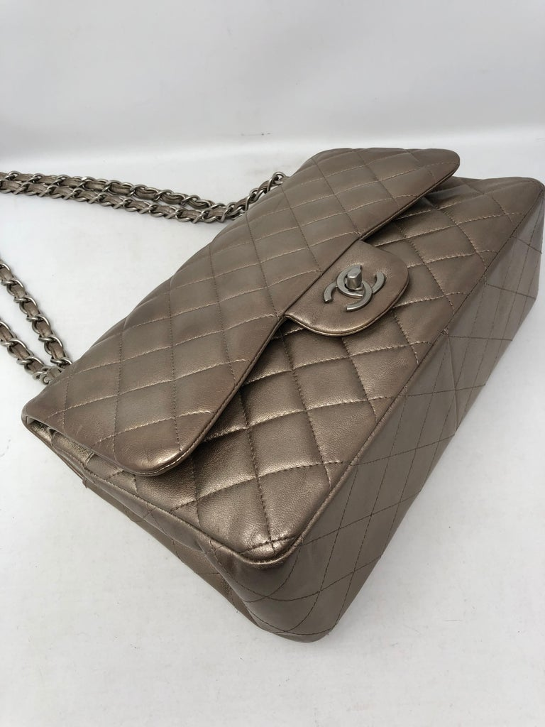 Chanel Jumbo Bronze Metallic For Sale 8