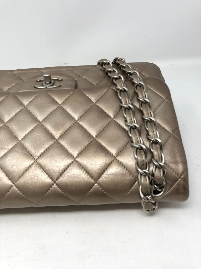 Chanel Jumbo Bronze Metallic For Sale 1
